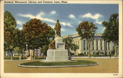 Soldiers' Monument, Library and Common