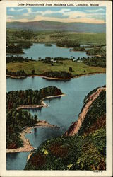Lake Megunticook from Maidens Cliff Postcard