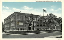 Indiana Side High School Postcard