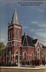 Austin Avenue Presbyterian Church Postcard