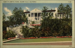 Home of Loretta Young, Holmby Hills Postcard