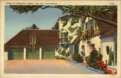 Home of Frederic March Postcard