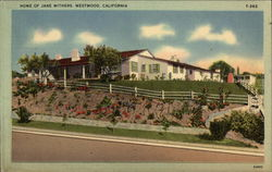 Home of Jane Withers Postcard