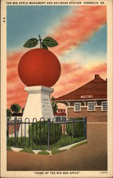 "The Big Apple Monument & Railroad Station - ""Home of the Big Red Apple"""