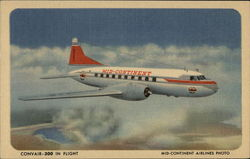 Convair-2300 in Flight - Mid-Continent Airlines