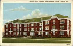 Bernard Hall, Arkansas State Teachers' College, Conway Ark Postcard