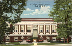 Library, Winthrop College Postcard