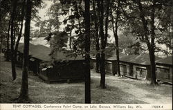 Tent Cottages, Conference Point Camp on Lake Geneva