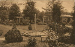 Flower Garden, President's House, Winthrop College Postcard