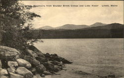 White Mountains from Boulder Brook Camps and Lake Kezar
