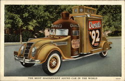Oertel's Brewing - The Most Magnificent Sound Car in the World Postcard