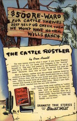 The Cattle Rustler Postcard