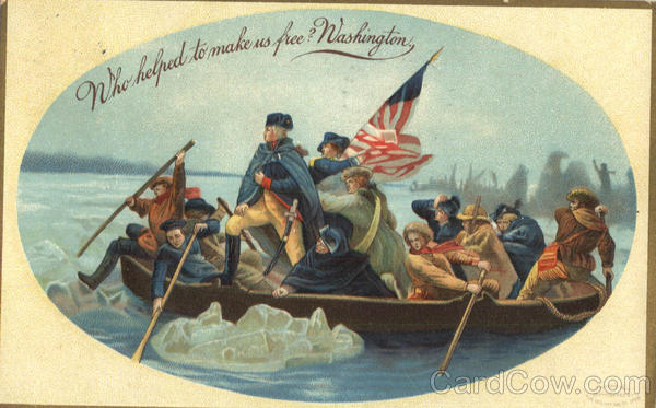 Washington crossing the Delaware Patriotic