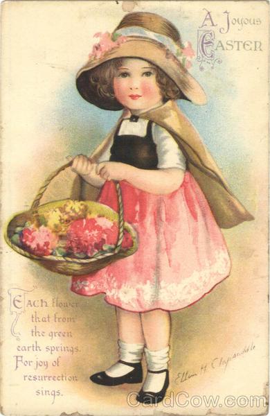 A Joyous Easter Vintage Postcard