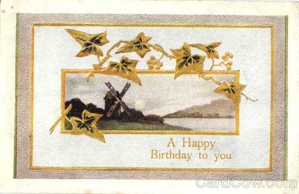 A Happy Birthday To You Windmills
