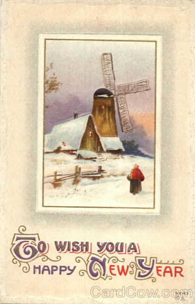 To Wish You A Happy New Year Windmills