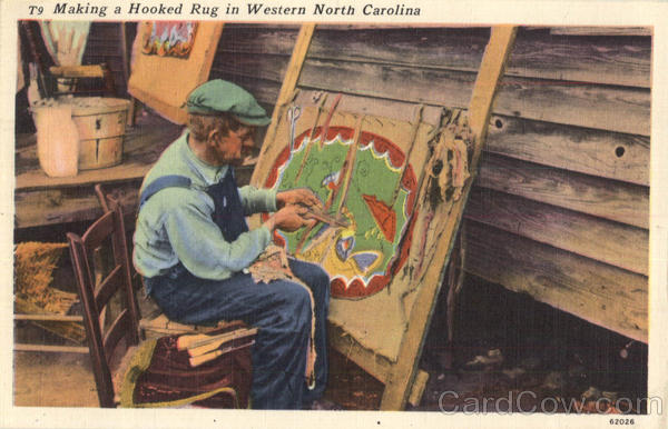 Making A Hooked Rug In Western North Carolina Sewing