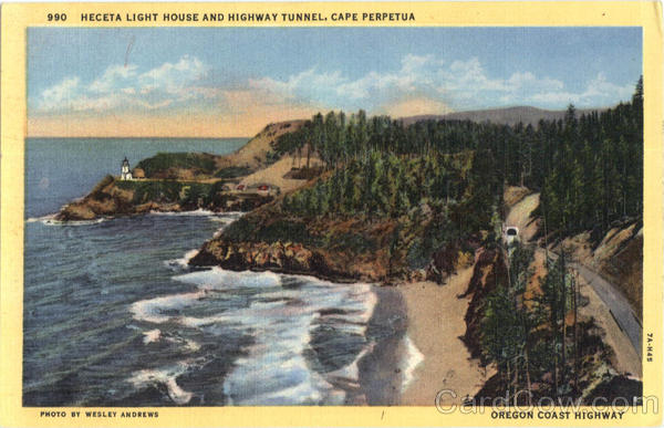 Heceta Light House And Highway Tunnel Cape Perpetua