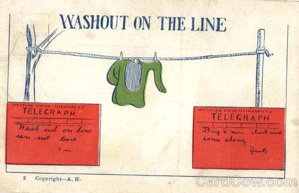 Washout On The Line Telegraph Postal