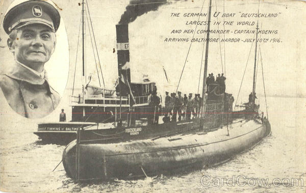 The German WWI U Boat Deutschland Boats, Ships