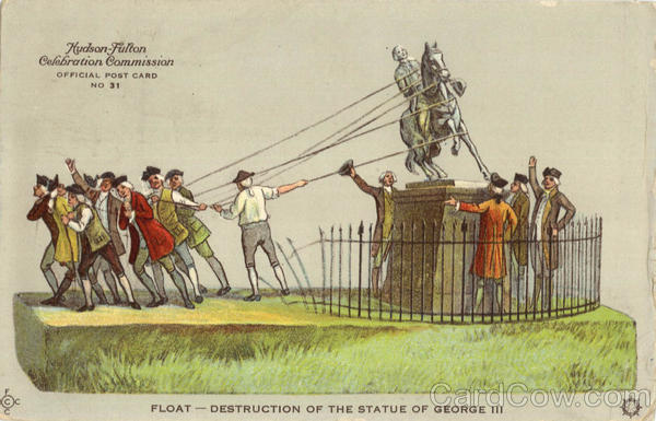 Float-Destruction Of The Statue Of George III Exposition
