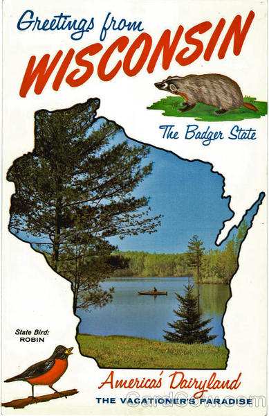 Wisconsin State Outline Scenic