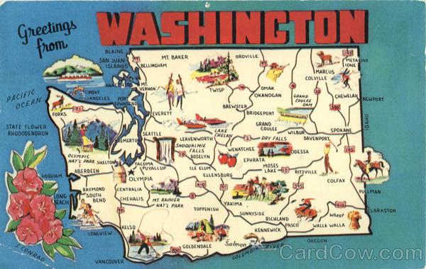 Washington Tourist Map Scenic WA – Washington Tourist Map
