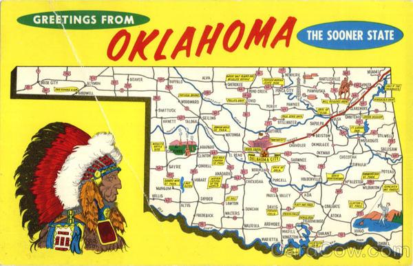 Oklahoma Tourist Map Scenic OK – Oklahoma Tourist Attractions Map