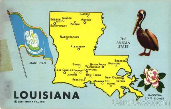 Louisiana The Pelican State Scenic