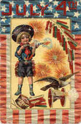 July 4th - Boy with Fireworks