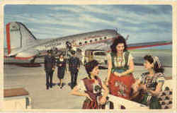 American Airlines Flagship Pilots & Stewardess Flight Attendant