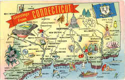 Connecticut Tourist Map