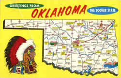 Oklahoma Tourist Map