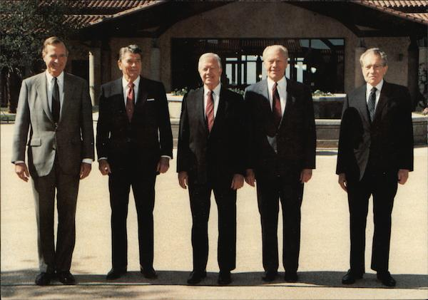 Presidents Bush, Reagan, Carter, Ford & Nixon Jimmy Carter