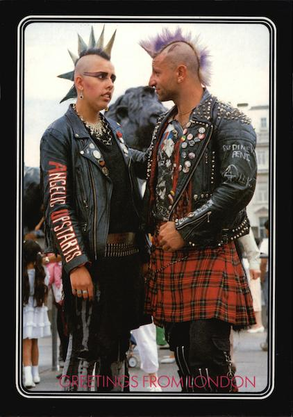 Greetings Punk Rockers London England