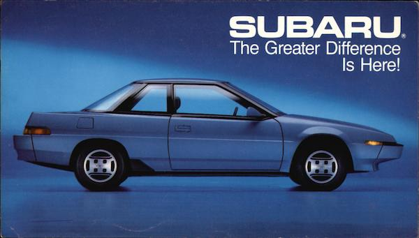 1985 Subaru XT Coupe Cars