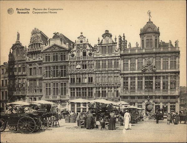 Corporation Houses Brussels Belgium Benelux Countries
