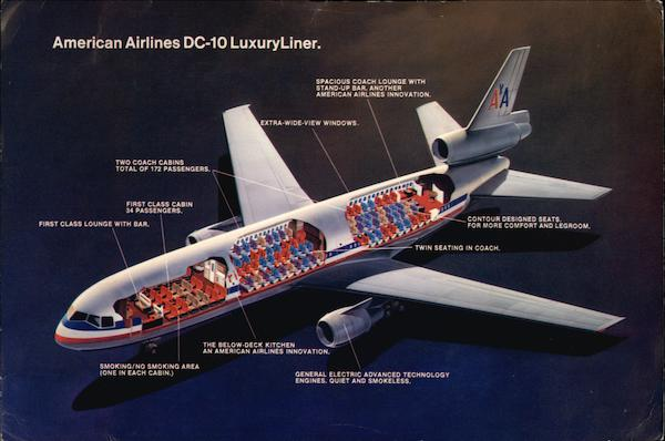 American Airlines DC-10 LuxuryLiner Aircraft