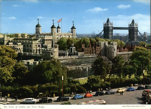 The Tower of London and Tower Bridge England