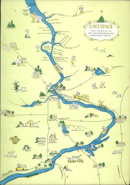 Map Of The Wisconsin Dells And Surrounding Area Maps