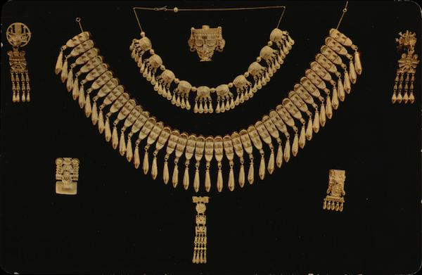 Reproductions of the Jewels of Monte Alban Oaxaca Mexico