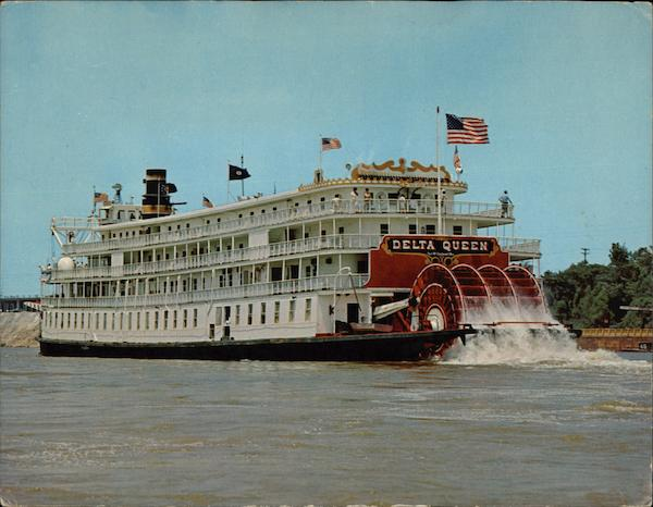 Steamboat Delta Queen On Lower Mississippi River Motorcycles