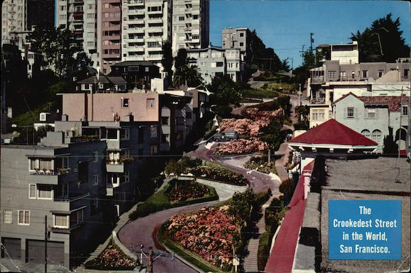 Lombard Street - Crookedest Street in the World San Francisco California