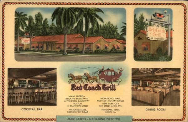 Red Coach Grill Miami Florida