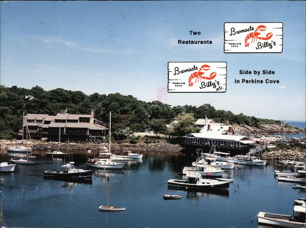 Two Restaurants Side by Side in Perkins Cove Ogunquit Maine