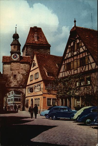 View of the Inner City Rothenburg-on-the Tauber Germany
