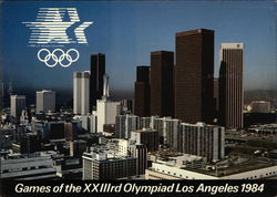 Games of the XXIIIrd Olympiad Los Angeles 1984 Large Format Postcard