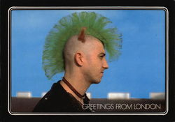 Punk Rocker with Green Mohawk