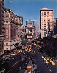 TImes Square Large Format Postcard
