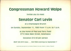 Congressman Howard Wolpe